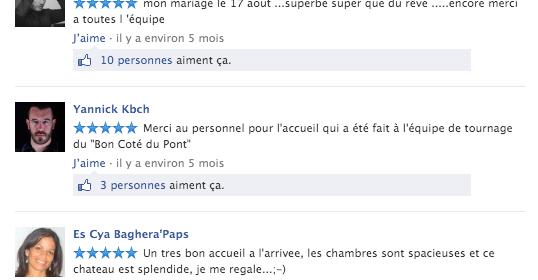 Pages Facebook locales : possibilité de répondre aux avis