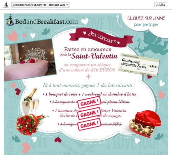 4 id es de concours facebook pour la saint valentin socialshaker. Black Bedroom Furniture Sets. Home Design Ideas