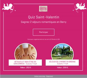 Quiz Jeu-Concours St-Valentin