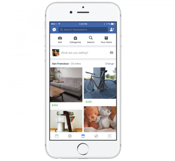 facebook lance marketplace un concurrent du bon coin socialshaker. Black Bedroom Furniture Sets. Home Design Ideas