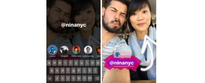 Les Stories d'Instagram acceptent les liens, mentions et Boomerangs