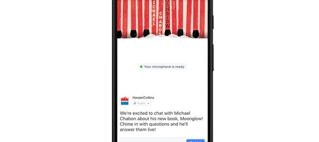 Facebook introduit les live audio