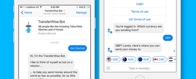 Facebook Messenger permet d'envoyer de l'argent à l'étranger