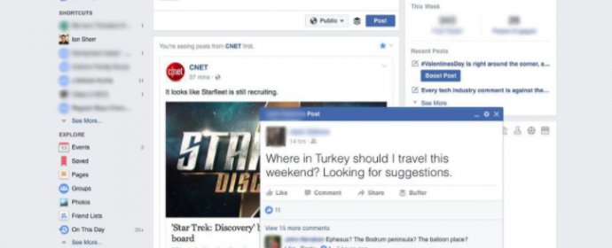 Facebook teste les publications pop-up