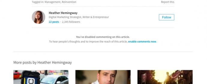 Linkedin: comment désactiver les commentaires et reporter des commentaires inappropriés