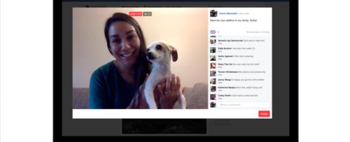 Facebook vous permet de diffuser une vidéo en direct depuis le bureau