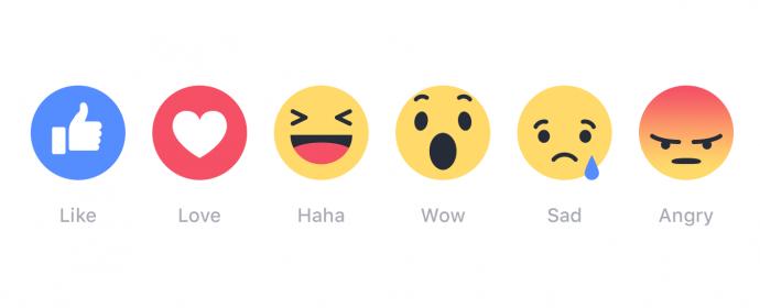 Facebook: l'algorithme augmente le poids des réactions par rapport au J'aime