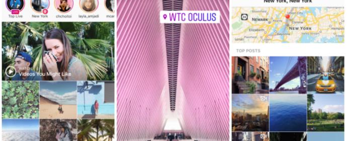 Instagram lance les stories géolocalisées et la recherche des stories avec les hashtags