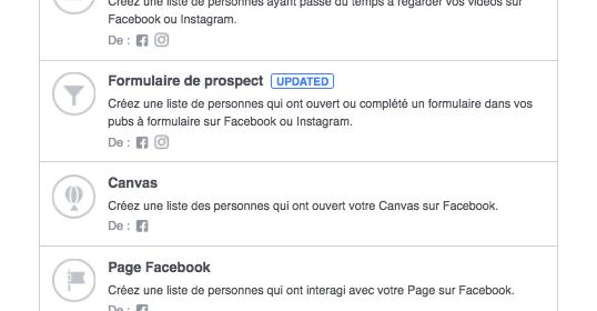 Facebook teste le ciblage des utilisateurs engagés sur Instagram