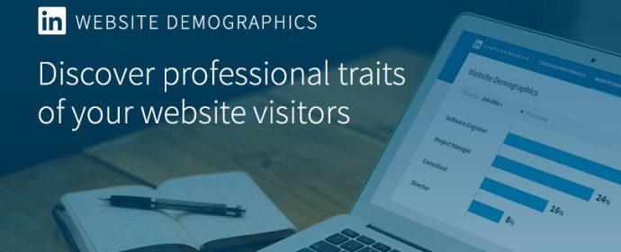 Website Demographics, le nouvel outil gratuit d'analyse d'audience de LinkedIn