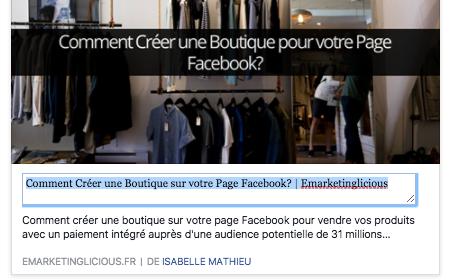 Les Pages Facebook media pourront continuer à modifier leurs liens