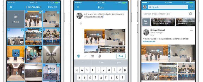 Vous pouvez ajouter plusieurs photos à vos publications LinkedIn