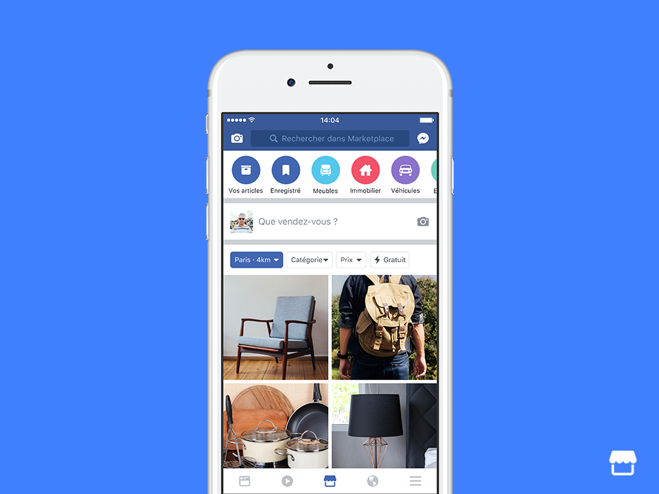 facebook lance marketplace en france une plateforme de petites annonces socialshaker. Black Bedroom Furniture Sets. Home Design Ideas