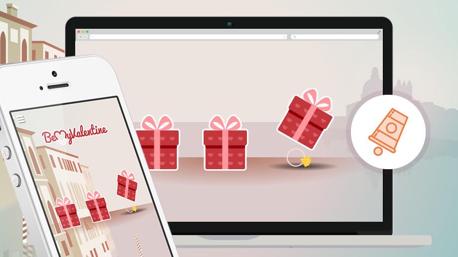 marketing interactif saint valentin