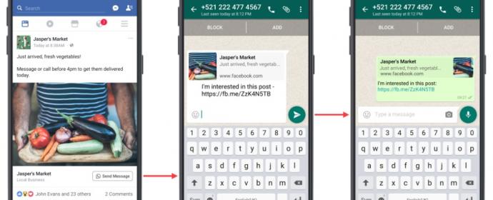 Facebook lance les annonces Click-to-WhatsApp à partir des publications boostées
