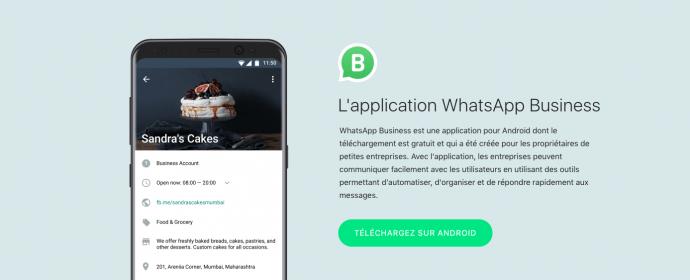 WhatsApp lance officiellement une application pour les entreprises