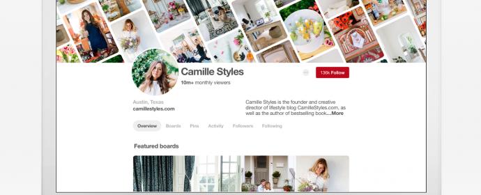 Les comptes professionnels Pinterest reçoivent un nouveau design