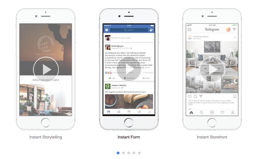 RIP les publicités Canvas de Facebook. Bonjour «Expérience Instantanée» !