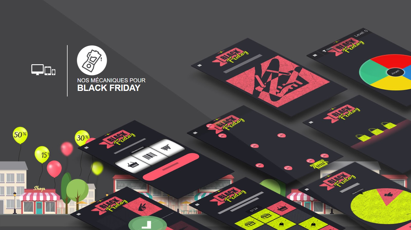 Catalogue de jeux concours marketing pour le Black Friday