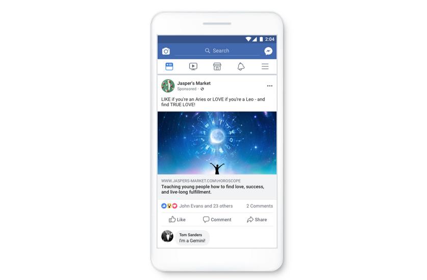 Les publicités de mauvaise qualité dans le collimateur de Facebook