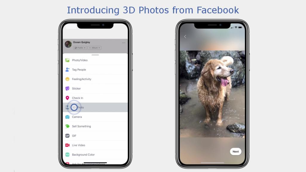 Facebook lance les photos 3D pour son fil d'actualité