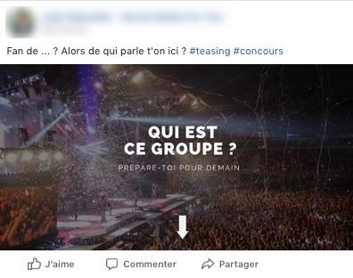 promotion jeu facebook