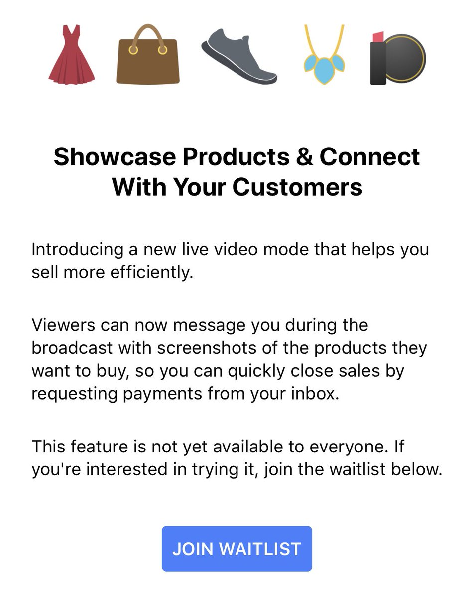 Facebook teste « Live Video Mode for Sellers »