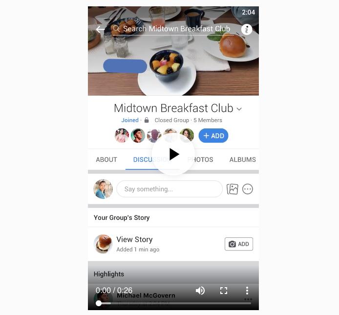 Facebook déploie les Stories dans les groupes globalement
