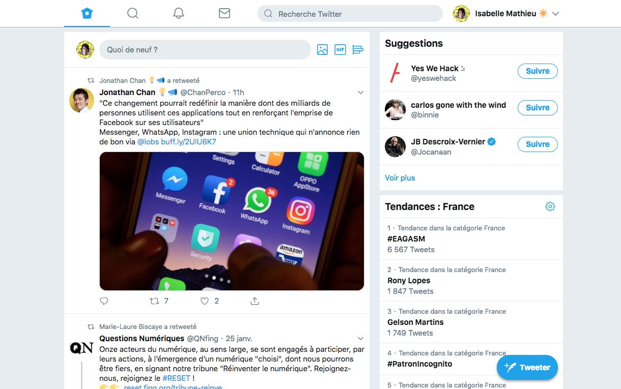 A quoi ressemble la nouvelle version de Twitter?