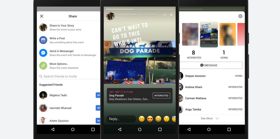 Facebook déploie les évènements dans les Stories en France