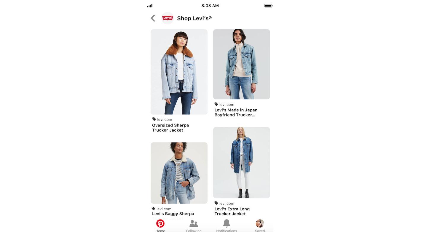 Pinterest introduit les catalogues et plus de fonctionnalités pour la promotion de produits