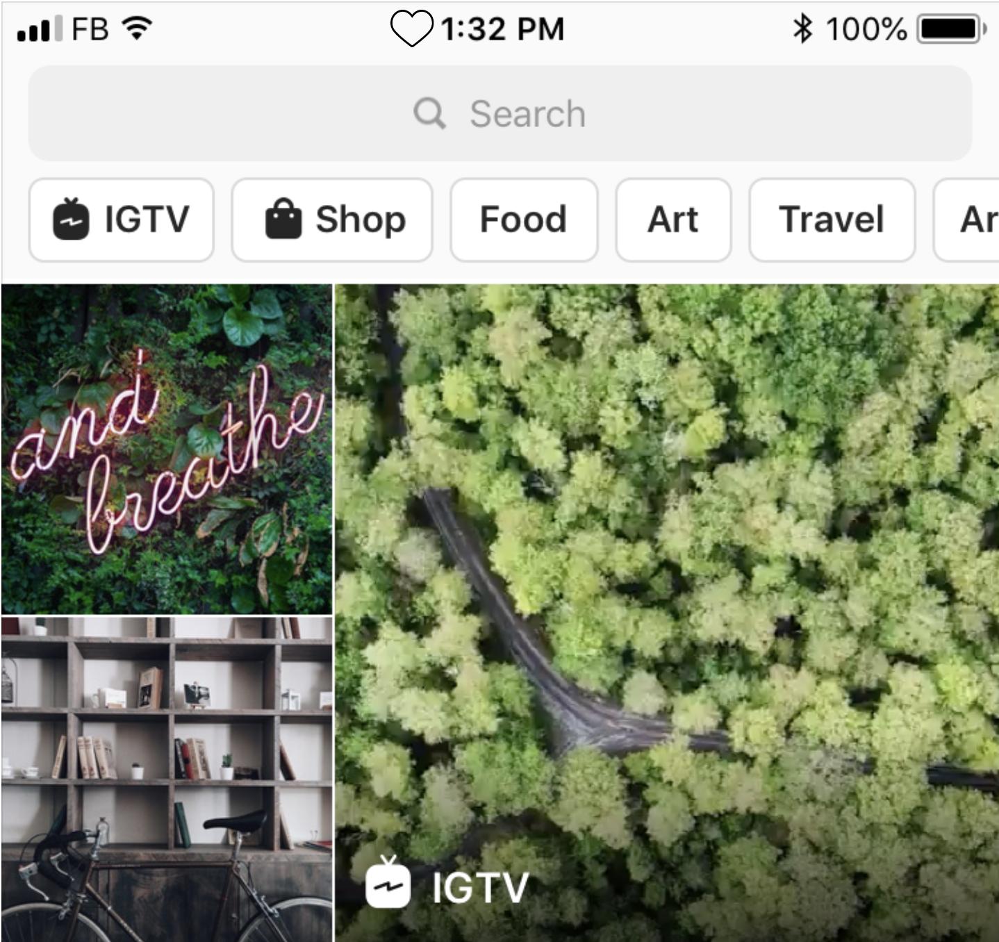 Instagram réorganise son onglet Explorer et intègre les stories