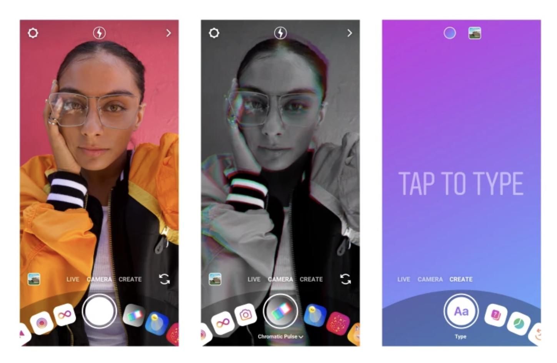 Instagram lance le sticker donation, le mode Créer et Shopping pour les influenceurs