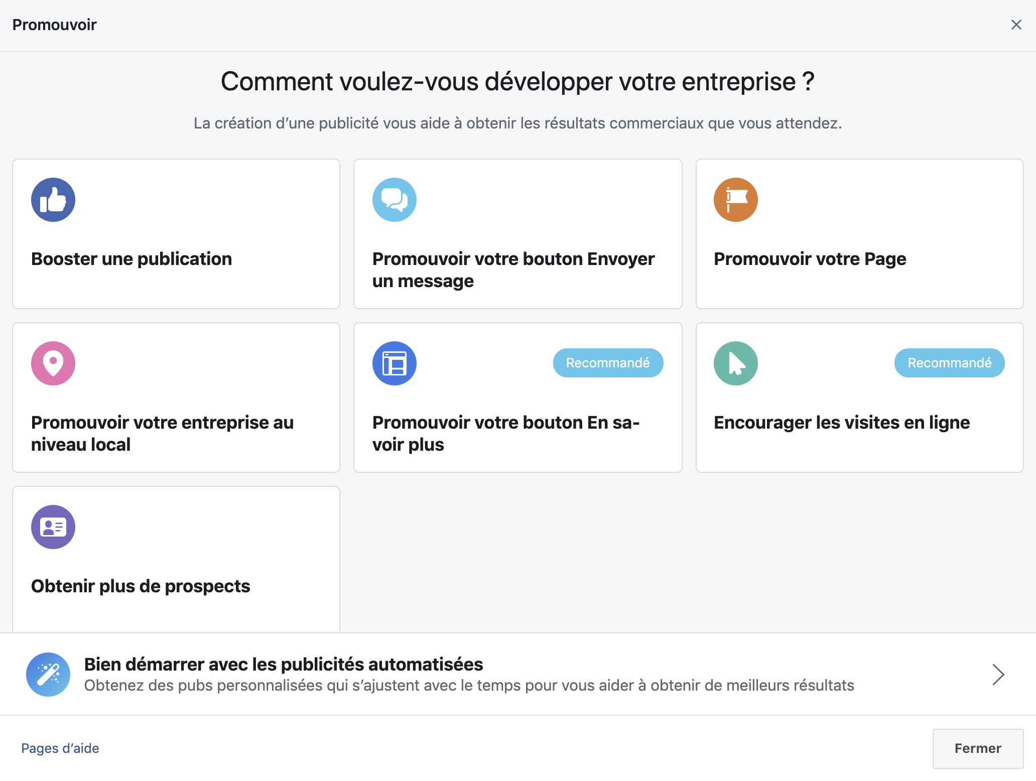 Facebook lance «Automated Ads» destiné à la publicité pour les petites entreprises