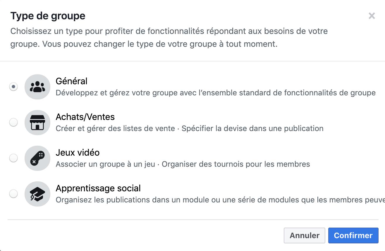 Facebook introduit 3 nouveaux types de groupe et en supprime 13