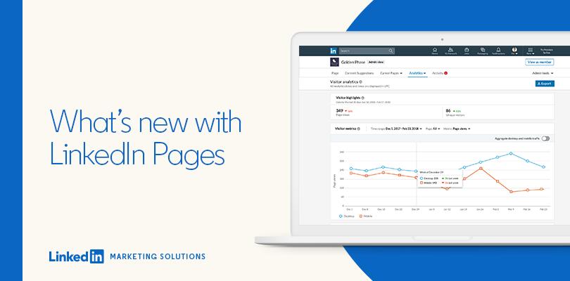 LinkedIn propose de nouvelles fonctionnalités pour les pages